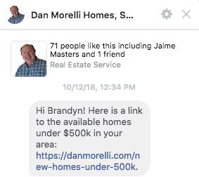 Facebook Messenger Ad Realtor