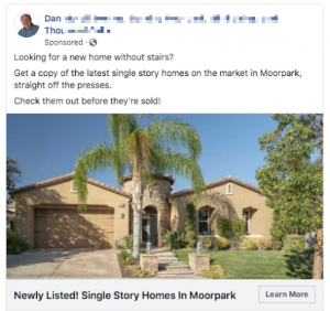 Facebook Real Estate Ad