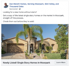 Realtor Facebook Ad Example for Real Estate
